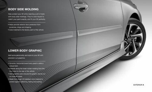 GENUINE TOYOTA 2017-2018 Corolla IM 2016 Scion IM Grey Lower Body Decal Graphic