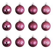 Christbaumkugeln Ø6cm Glaskugeln Weihnachtskugeln Baumkugeln Violett 12tlg Set