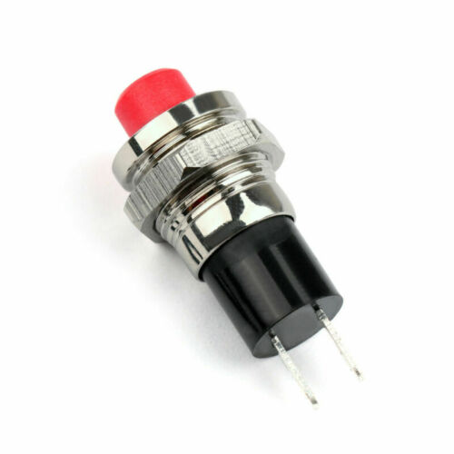 Details about  /New Mini Push Button SPST Latching N//O OFF-ON Switch 10mm R//B For Car//Boat