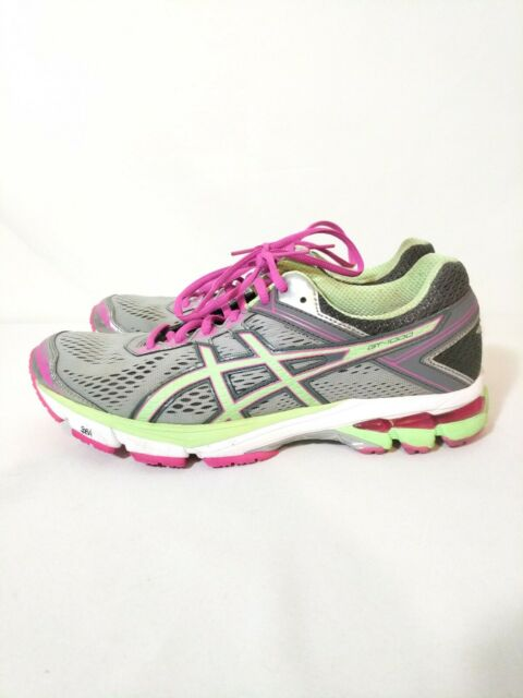 nivel Serrado Serena  ASICS Gel GT-1000 4 Women's Gray Pink Green Running Shoes Size 10  T5A7N-9387 EUC | eBay