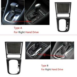 RHD-Carbon-Fiber-Console-Gear-Shift-Ashtray-Panel-Sticker-For-VW-Golf-6-MK6-GTI
