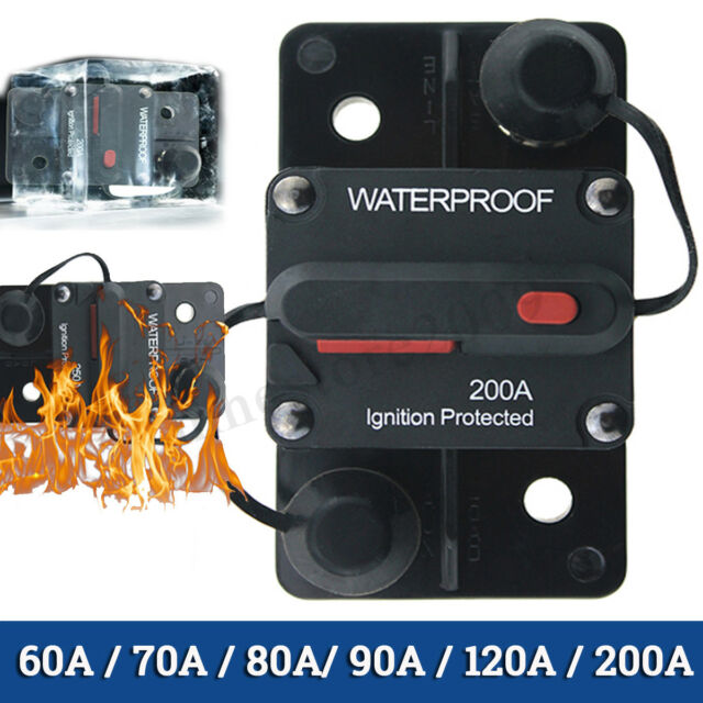 15A//20A//30A AMP Cars Circuit Breaker IP67 Water-proof 12V DC Fuse Manual Reset