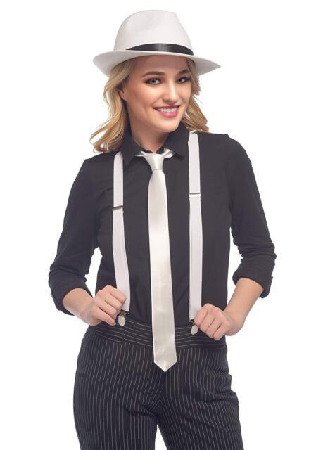 Mens 1920s Gangster Mob Pinstripe Vintage Suit And Tie Fancy Dress Costume