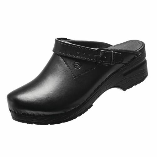 Toffeln Flexiklog with Back Strap Black 3 Leather Safety Shoes Catering Kitchen