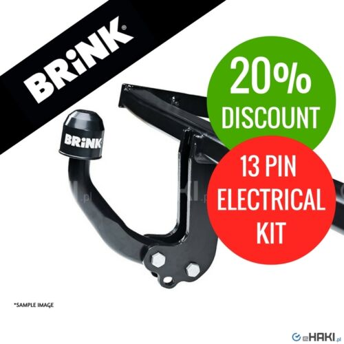 2003-2010 E60 13-pin e-kit Towbar Brink fixed swan neck BMW 5 Series