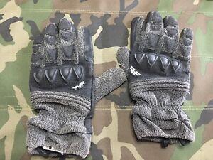 Line-of-Fire-Striker-Black-Grey-Gloves-Large-used
