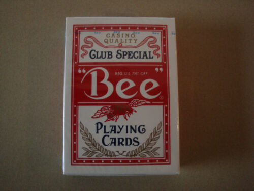 BEE PLAYING CARDS BY USPCC ONE RED DECK POKER SIZE CASINO MAGIC TRICKS GAMES