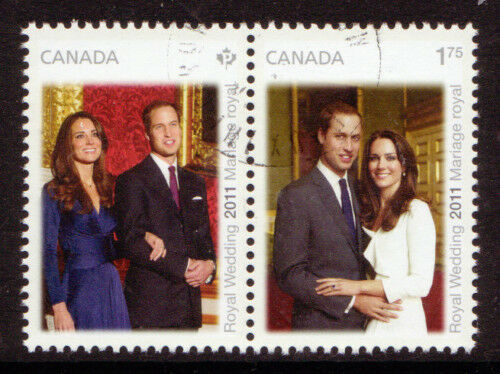 CANADA 2011 WILLIAM AND CATHERINE ROYAL WEDDING PAIR FU