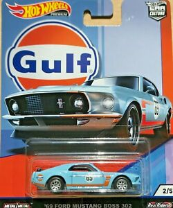 Hot-Wheels-Premium-Car-Culture-039-69-Ford-Mustang-BOSS-302-GULF