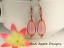 SEA-GLASS-Teardrop-Pink-Weave-Wire-COPPER-Dangle-Earrings-USA-HANDMADE thumbnail 2
