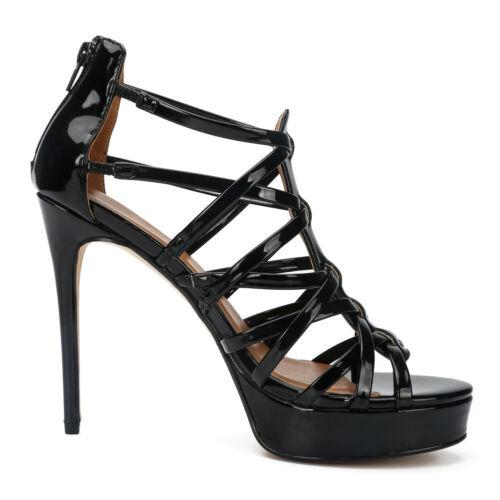 Gladiator Cut Out Men/'s Plus Sz Sandals High Heels Drag Queen Crossdresser Shoes