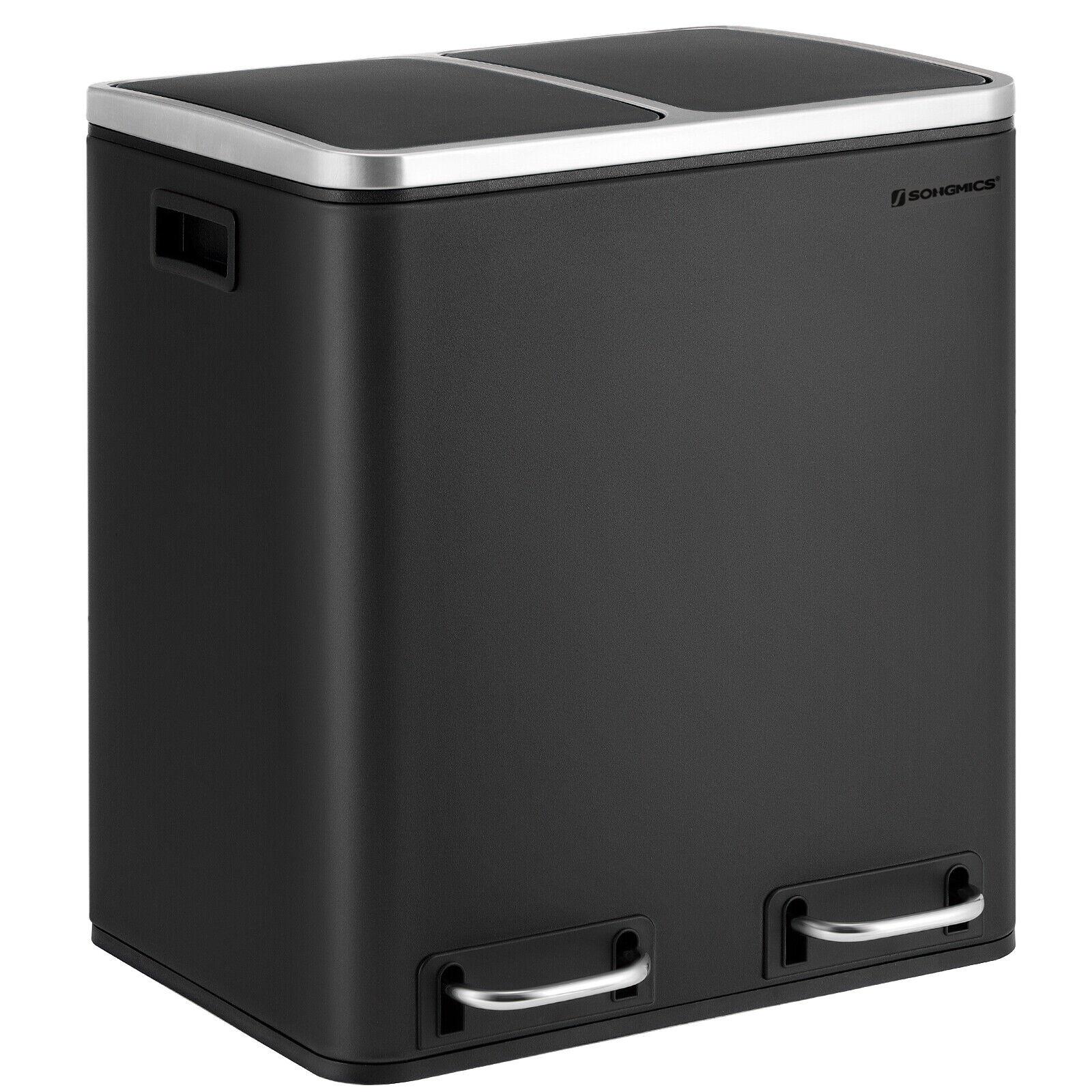 30 L Mülleimer Abfalleimer Mülltrennung Metall Mülltrennsystem Recycling LTB30BK