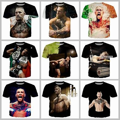 New Fashion Women//Men Conor Mcgregor 3D Print Casual T-Shirt E16