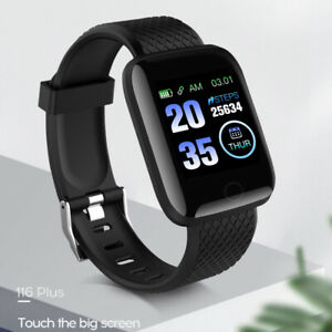 Orologio-Smart-Nero-Bluetooth-frequenza-cardiaca-pressione-sanguigna-Monitor-Fitness-Tracker-Uk