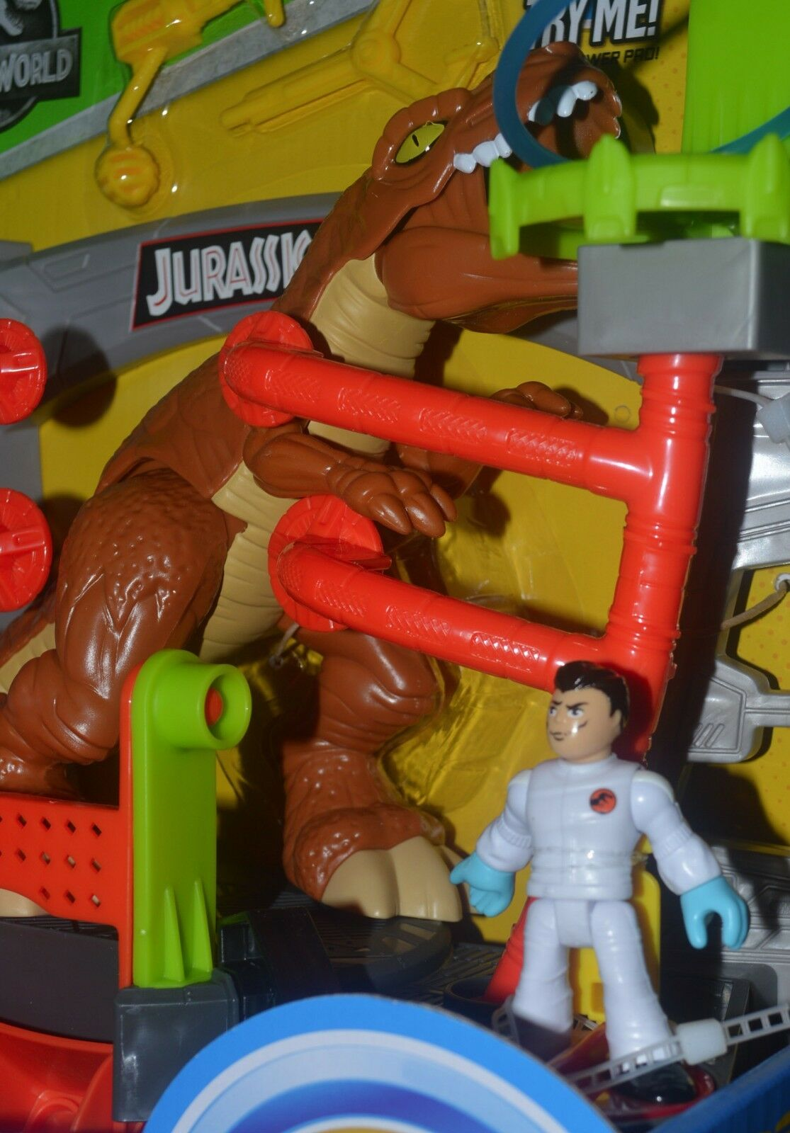 Jurassic World RESEACH RESEACH RESEACH LAB & Doctor Figure Imaginext Set Power Pad New  HTF MIP 7add3f