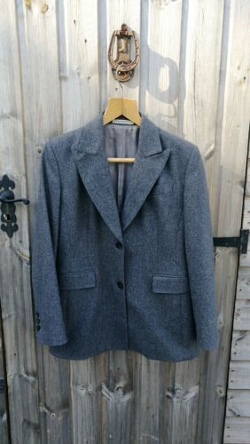 de Blazer ajustada virgen de 100 Boyfriend lana elegante Chaqueta Crombie de mujer gris de para gris 1twxEdgqd