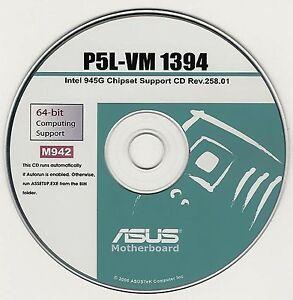 Asus p5l-vm 1394 motherboard drivers installation disk m942 | ebay.