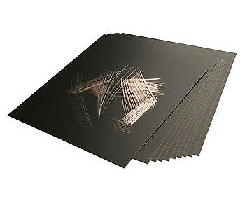 Essdee Scraperfoil Black coated Copperfoil 152x101mm Pack of 10 Sheets
