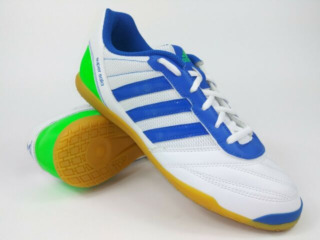 este Productivo grava  Adidas Mens Rare Freefootball SuperSala G65096 White Blue Indoor Shoes Size  8.5 for sale online