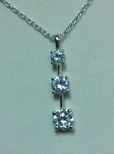 STERLING SILVER PAST, PRESENT AND FUTURE PENDANT WITH CHAIN