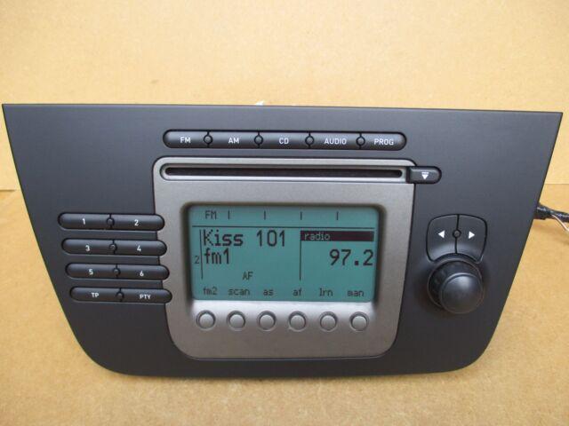 autoradio radio stereo cd player 5p1035152 seat altea 5p toledo 5p ebay. Black Bedroom Furniture Sets. Home Design Ideas