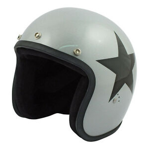 Casco-Bandit-Star-Jet-ORIGINALE-grigio-Harley-Cafe-Racer-Chopper-Bobber-Vintage