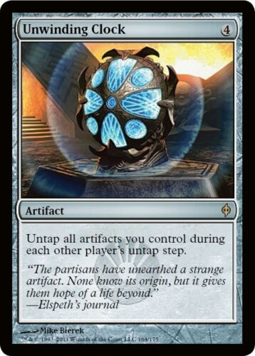 Orologio a Scarica Unwinding Clock MTG MAGIC NPh New Phyrexia Eng//Ita