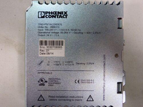 Phoenix Contact Trio PS-1AC//24DC//5 Input:100-250V 50-60 Hz 1,9-0,9A 2866310