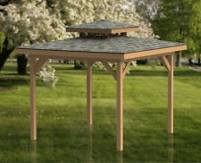 12' x 12' Double Hip Roof Gazebo Building Plans  - Perfect for Hot Tubs