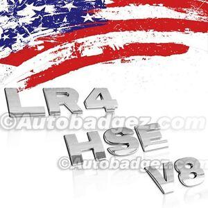 NEW LAND ROVER DISCOVERY Range Rover Sport badge emblem BLACK LR4 HSE V6 3
