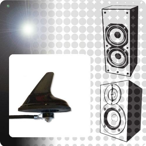 PEUGEOT 206 1.4 ACP UNIVERSALE AM//FM Pinna Di Squalo Antenna Antenna Nero XE3 standard
