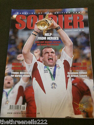 SOLDIER - RUGBY MARTIN JOHNSON - AUG 2008