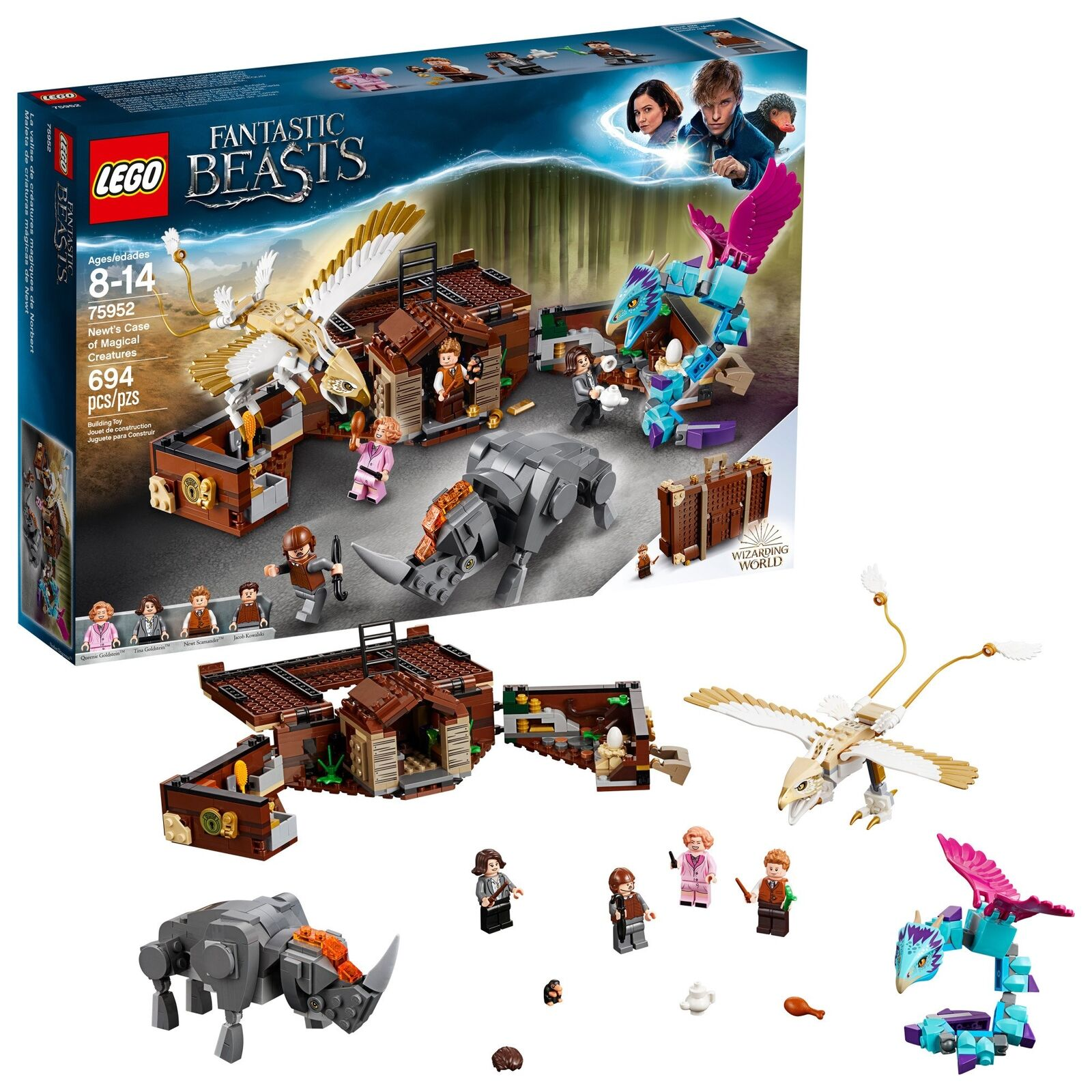 LEGO Harry Potter Nuovots Case of Magical Creatures Building Kit  694 Piece ,