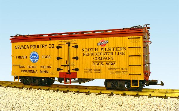 USA Trains Escala G R16379 Nevada aves de corral-Amarillo Rojo Rojo Hierba