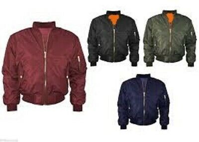 MA1 Mens Army Pilot Biker Bomber Fly Military Security Doorman Hooded Jacket