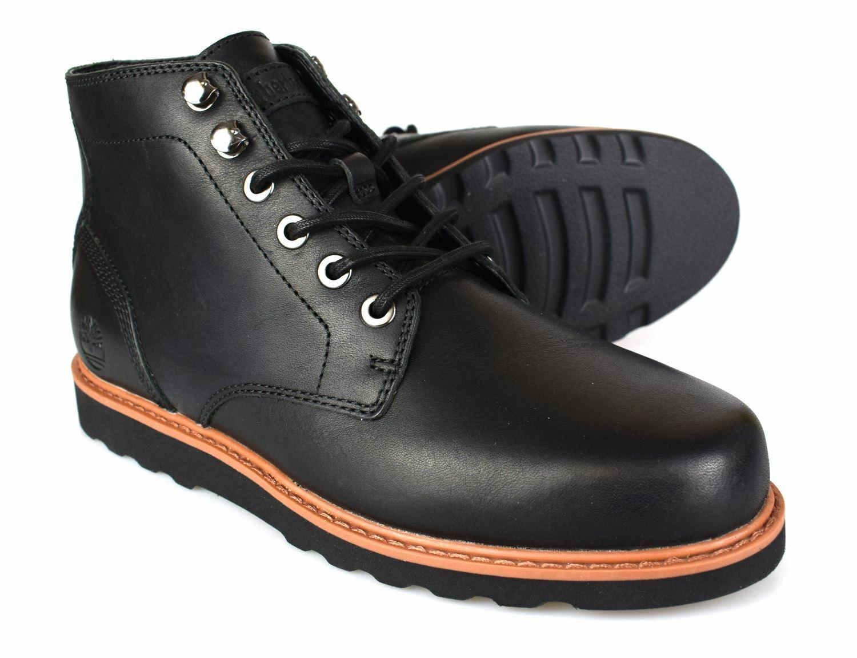Timberland New Market Black Leather Chukka Boots A1J6Q Free UK P&P!