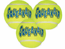KONG AIR DOG Squeaker Tennis Ball - Dog Fetch Toy Large (AST1B) 3 PACK