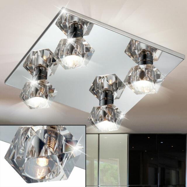 LED Decken Leuchte Wohnzimmer Glas Spot Strahler Flur Küchen Lampe EEK A WOFI