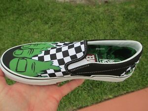 7d879f899a VANS CLASSIC SLIP ON CHECKERBOARD MARVEL HULK GREEN Size 9 NEW IN ...