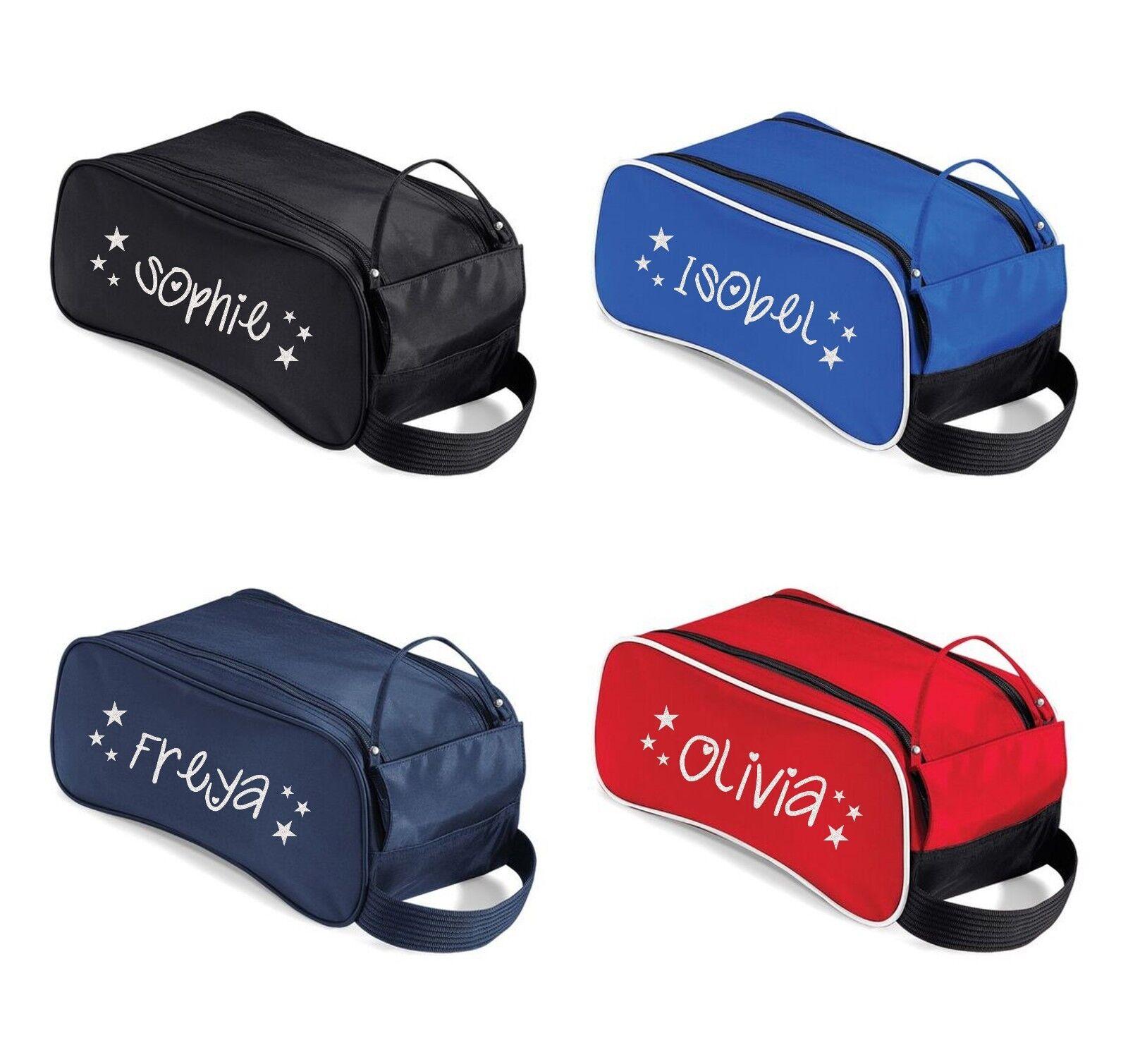 Personalised Varsity Name Shoe Bag Customised Football Boot School PE Kids Name