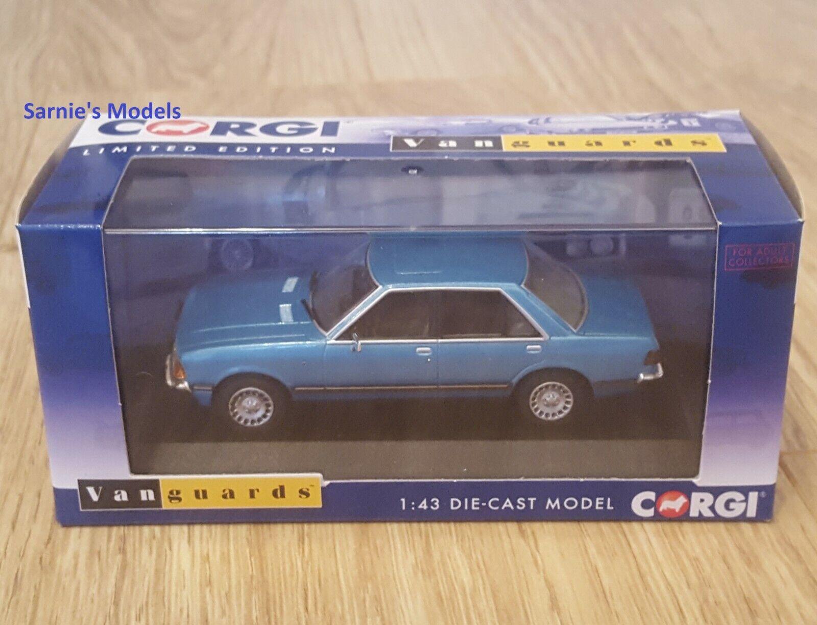 NEW Vanguards 1:43 Ford Granada Mk2 Series 1 2.8i Ghia Cosmos Blue VA12413