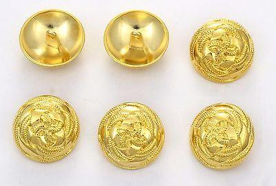 heraldry buttons STEMMA ARALDICO 6 bottoni in metallo serie marina