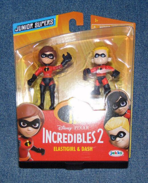dd63c9a1966 Disney Pixar Incredibles 2 Elastigirl & Dash Junior Supers Action Figures