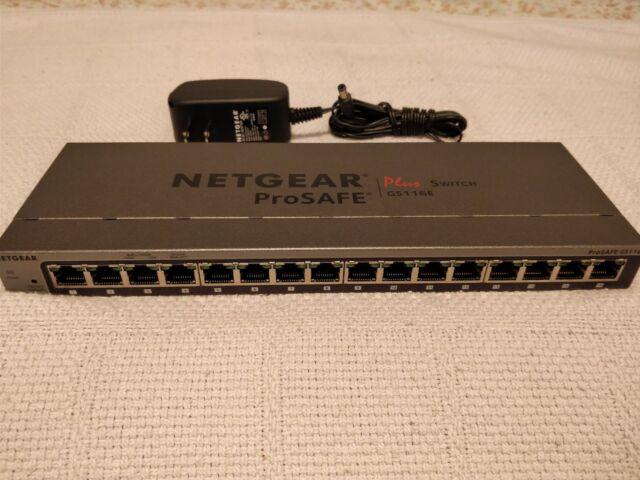 NETGEAR GS116E v2 ProSafe Plus - Managed Switch 16 Ports Gigabit GS116Ev2