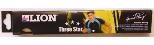 6 X Lion Match Tournament 3 Star Table Tennis Balls