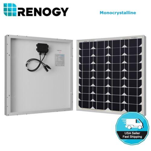 Renogy 50 Watt Solar Panel 50W 12V Off Grid PV Power Marine Motorhome RV