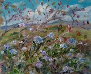 Rosehips-amp-Scabius-Wensleydale-Impressionism-Oil-painting-Yorkshire-Dales