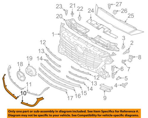 MAZDA OEM 17-18 3 Grille-Molding Left B63B507K1A