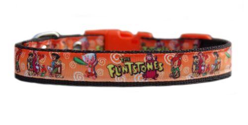 "Brown Yabba dabba do /""The Flintstones /"" medium dog puppy collar or /& lead set"