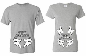 Valentines Day Gifts - Property of my Girlfriend & Boyfriend - Couple T-shirt